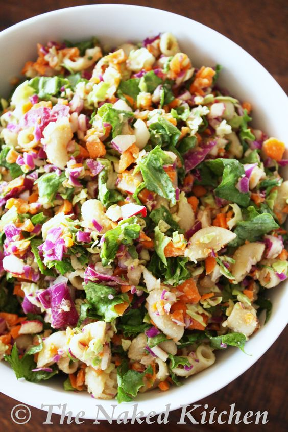 Chopped Salad with Creamy Vinagrette Dressing