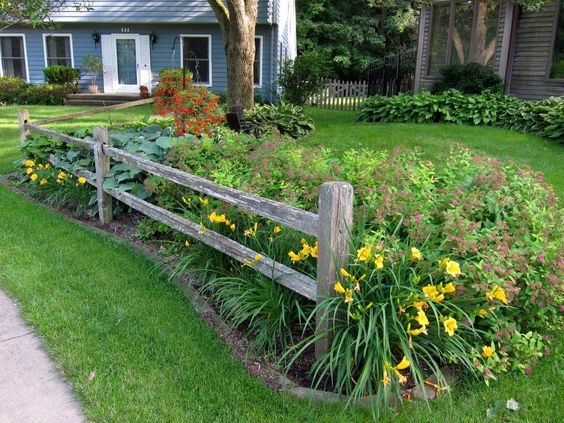 Split-rail Fence Installed By My Husband To Create An