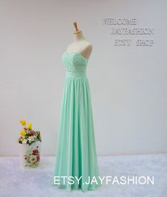 A-line Sweetheart long prom dress,Mint Green fashion bridesmaid dress,chiffon prom dress,formal evening dress Cheap homecoming dress by jayfashion on Etsy https://www.etsy.com/listing/214822425/a-line-sweetheart-long-prom-dressmint