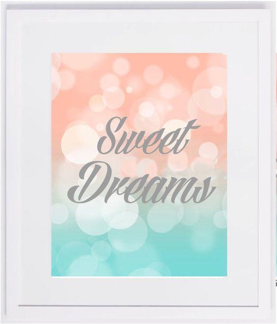 Bokeh Sweet Dreams Nursery Room Art Print For Fashionable