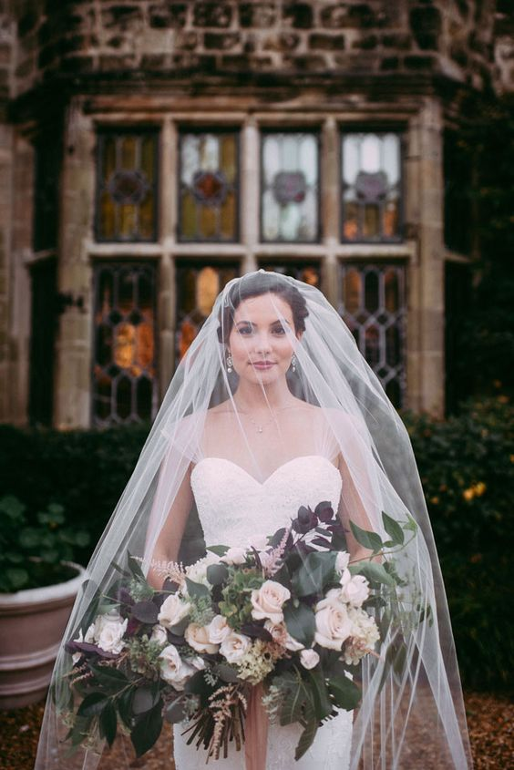 Fine art bridal portraits at the Virginia House, an English Tudor with an exquisite outdoor English garden, by Alex C Tenser Photography and Maggie Richard Design