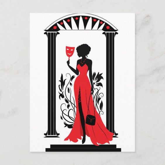 Silhouette Figures Wineglass Beauty Red Dress Evening Dress Creative Cocktail Wearing Vector Beautiful Vector Red Beautiful Red Dresses Dress Vector Red Dress