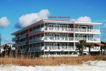 Mexico Beach, FL: Here is a New Gulf Front Condo that sits on the Top Floor of the small complex.    Attitude Adjustment has 3 bedrooms and 2 full bathrooms that easily...