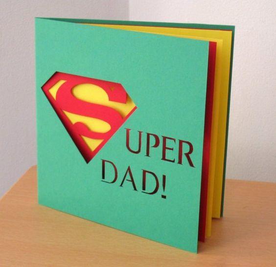 Super carte pour super papa, super dad card