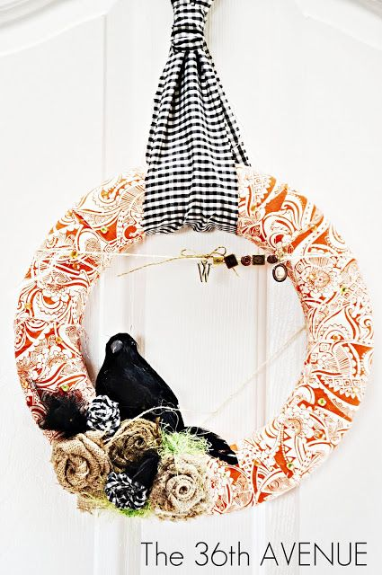 Halloween Fabric Wreath by the36thavenue.com