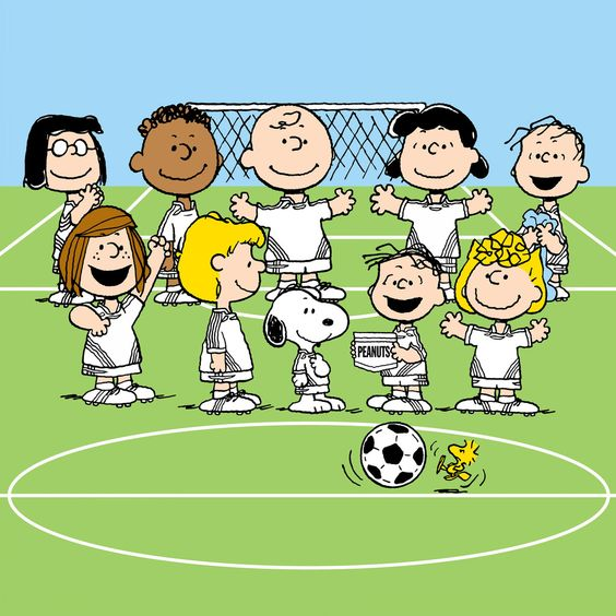 Peanuts Soccer Team | Peanuts characters, Follow me and ...