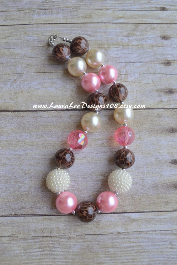 Light Pink Cream and Leopard Cheetah Print by LauraLeeDesigns108