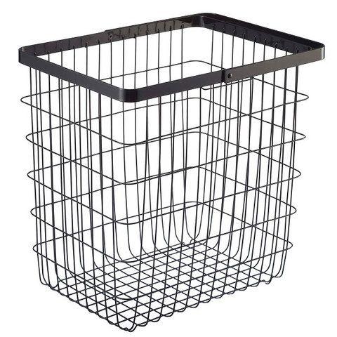 Yamazaki Home Large Wire Laundry Basket Tower Wire Laundry