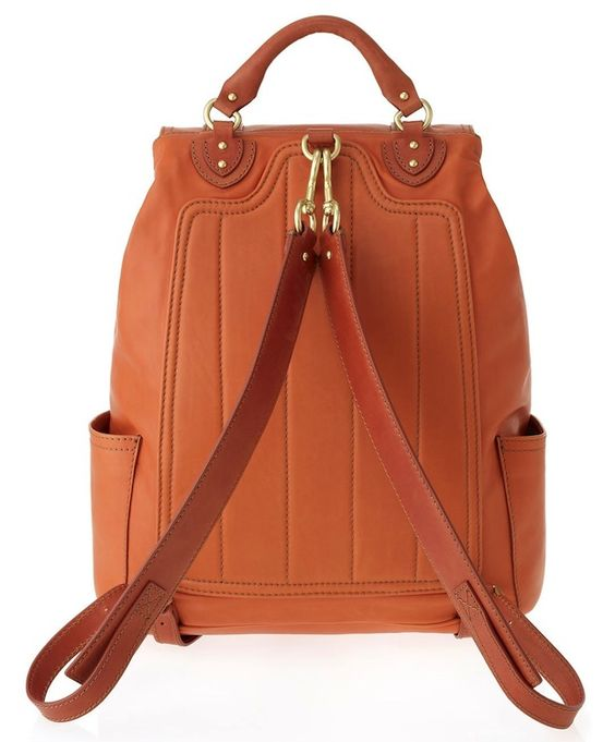 Marc-Jacobs-Cow-Orange-Leather-Backpack-2 | Leather backpack ...