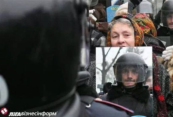 Protest march in the Ukraine