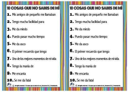 Recursos Ele Actividad Para Trabajar La Presentación En Clase De Español Para Extranjeros Recursos De Enseñanza De Español Actividades Ejercicios De Español