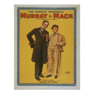 Comédia teatral Murray & Mack do vintage Poster
