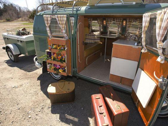 1967 volkswagen type 2 westfalia deluxe camper van classic for Vw camper van interior designs