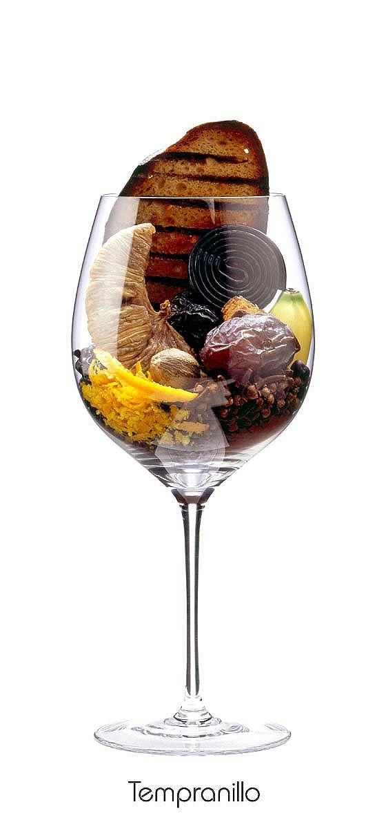 TEMPRANILLO  Plum, banana, dried fig, date, orange peel, juniper, clove, black pepper, nutmeg, cocoa, grilled bread, gingerbread