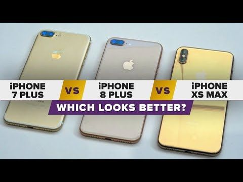 Gold Iphone Xs Max Vs Iphone 8 Plus Vs Iphone 7 Plus Which Looks Better Followformore Tech Videos Gaming Gad Iphone 7 Plus Iphone 8 Plus Gold Iphone