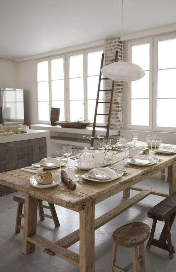 Mooie boeren oude houten eettafel!
