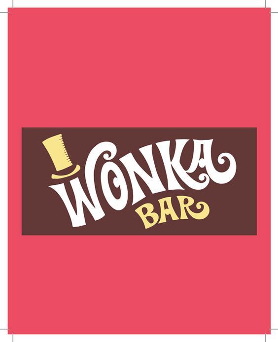 Free Wonka Bar Wrapper Printable Party Invite | Michele's Baby Shower | Pinterest | Fonts, Bar ...