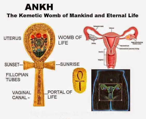 """""""Sex wasn't God's big mistake. Judging against sex was humanity's big mistake. Pleasure is as divine as any cathedral, any temple."""" -Deepak Chopra .. Esoteric anatomy Ankh """"In Goddess spirituality, we all know that we are born of the mother and that we will return to the mother. This powerful image reminds us that the sacred feminine holds the power of life, death and rebirth."""" ..~ Kerri Ryan Ankh"""