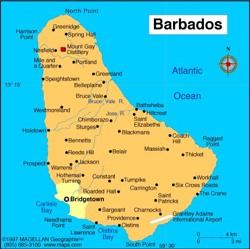 geography and population of barbados Prehistoric barbados is believed to have been inhabited by cave-dwellers of the geography area: 431 sq km capital city: bridgetown population density (per sq km): 661 barbados, the most easterly of the caribbean islands, lies south of st lucia, east of st vincent and the grenadines.