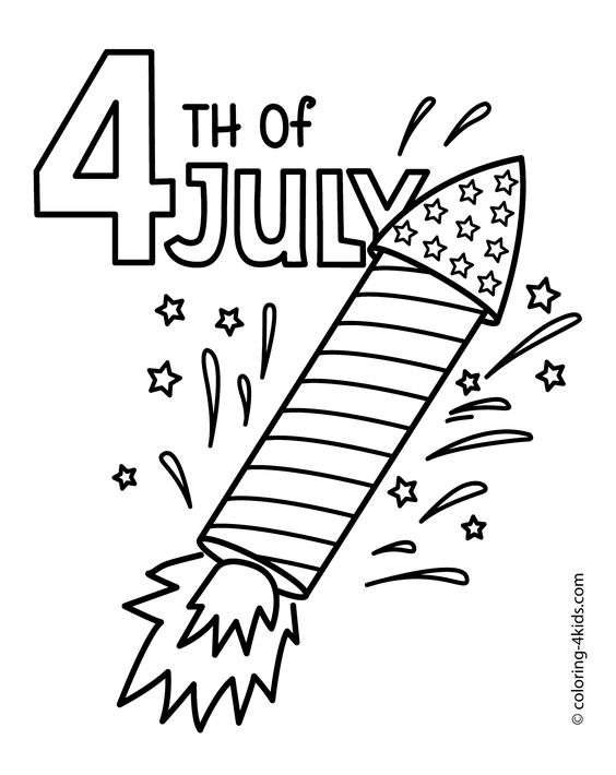 Superb 4th Of July Color Pages