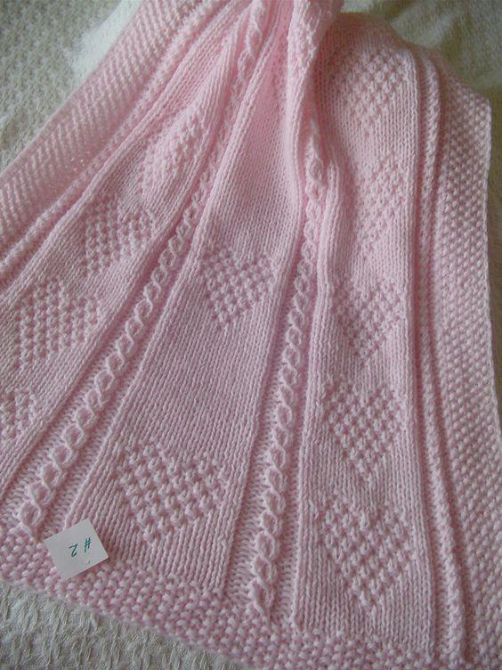 couverture bb 2 tricots la main rose par ednascloset sur etsy