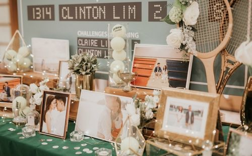 5 Prettiest Reception Table Decor From Real Weddings Her World Singapore Reception Table Decorations Wedding Party Table Wedding Party Table Decorations