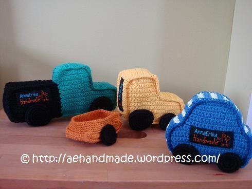 Amigurumi Crochet Patterns Dolls : Free Crochet Pattern : Crocheted Car, Truck, Tractor and ...