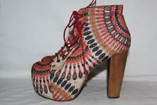 Jeffrey Campbell 'Feather Lita Fab' Boot (Women) / Multi-Color / Size 9.5 M