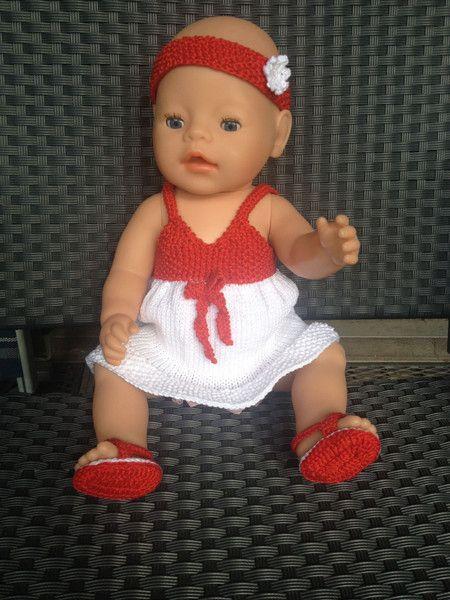 Puppenhängerchen, Stirnband und Sandalen von Marie & Mariechen auf DaWanda.com