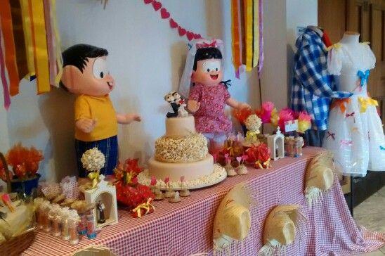 Festa Junina, Casamento Junino, Chico Bento e Rosinha.