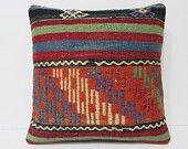 20x20 kilim pillow 20x20 giant pillow cover ethnic tapestry large kelim rug rustic bedding large floor rug art pillow cover orange rug 20978