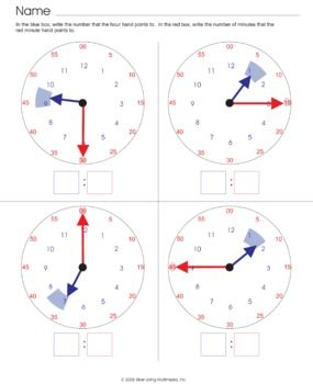 Telling Time Worksheet - Look at the time given. Write the time ...