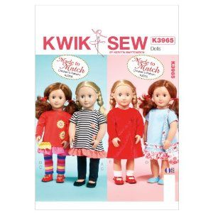 Kwik Sew Patterns K3965 Clothes for 18-Inch Doll Sewing Template, One Size,$8.05 [ http://sewingpatterns.osx128.com/kwik-sew-patterns-k3965-clothes-for-18-inch-doll-sewing-template-one-size/ ]