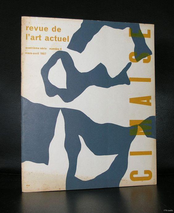 Cimaise , Mars Avril 1957 # JEAN ARP # original silkscreened cover, 1957, vg++
