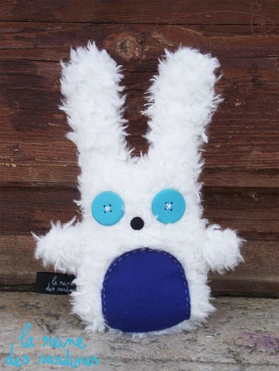 Doudou lapin blanc