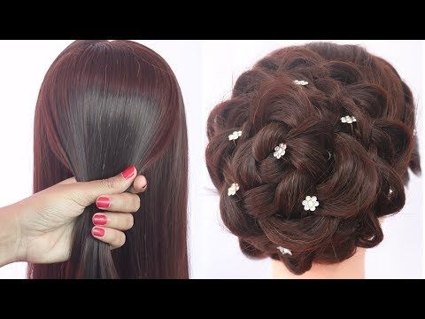 Easy Hairstyle For Karva Chauth Messy Bun New Hairstyle Ladies Hair Style Hairstyle Youtube In 2020 Hair Styles Easy Hairstyles Easy And Beautiful Hairstyles