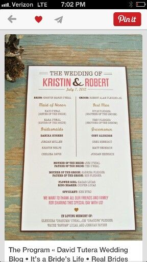 This is the basis from which i created the wedding programs from