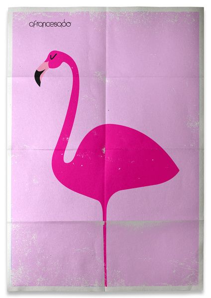 Flamingo... -Art Print by Afrancesado