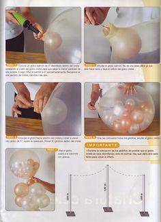 Revistas de manualidades Gratis: Cómo decorar las fiestas con globos