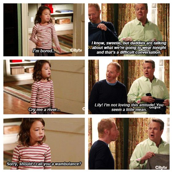 Haha love Lily's come backs and Claire as her inspiration :P - Modern Family