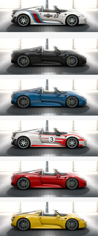 porsche 918 spyder 12 colours 3 exterior films - Porsche 918 Exterior