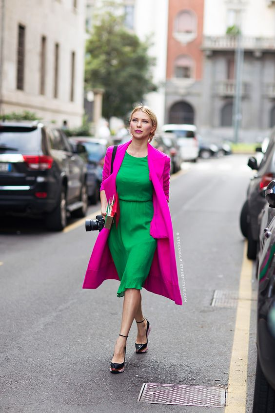 Bright Spring hot pink and kelly green