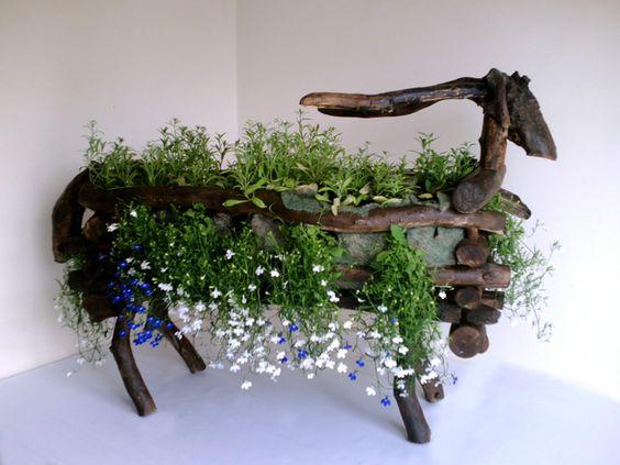 Driftwood Goat Planter £199.99
