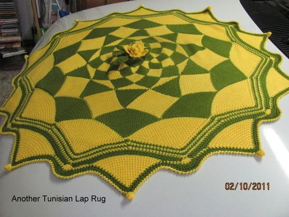 another Tunisian lap rug