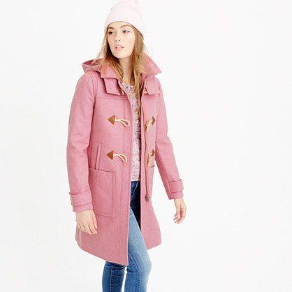 J Crew Wool melton toggle coat in Heather Petunia Pink} fallstyle