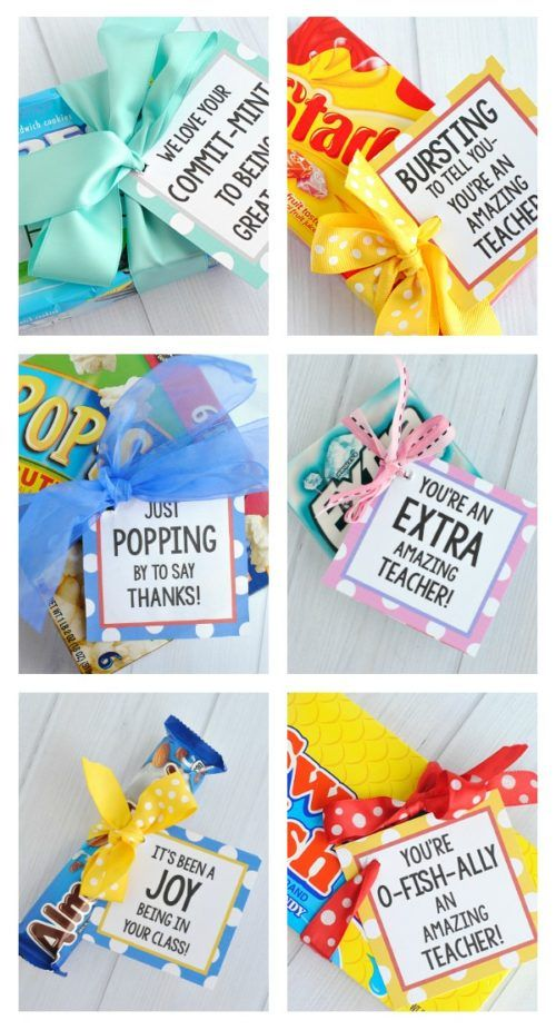 Punny Teacher Gifts With Printables Teacher Gifts Teacher Appreciation Gifts Teacher Appreciation Gifts Diy