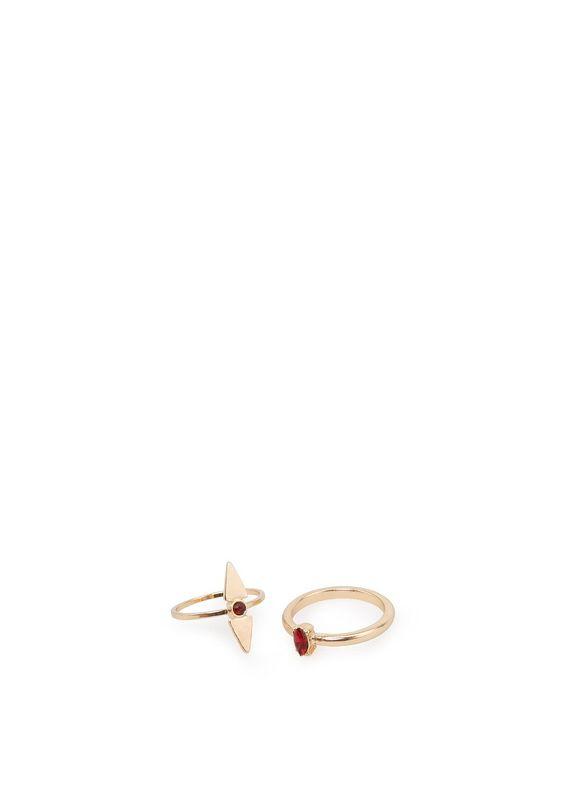 7,99 - Mango - Set anéis cristal