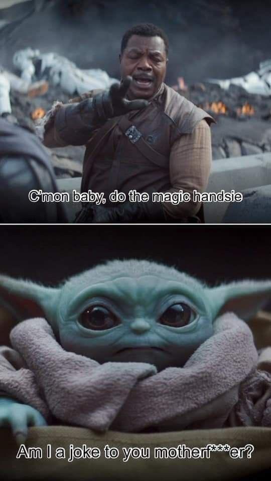 Pin By Dana On Baby Yoda Star Wars Memes Funny Relatable Memes Yoda Wallpaper