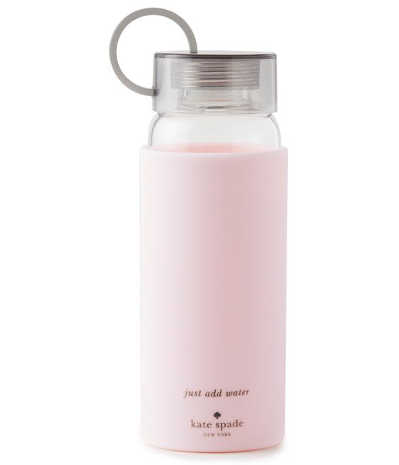 Kate Spade New York glass water bottle.