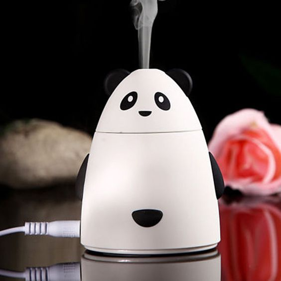 Cute Panda Led Essential Oil Aroma Diffuser Ultrasonic Air Humidifier Purifier